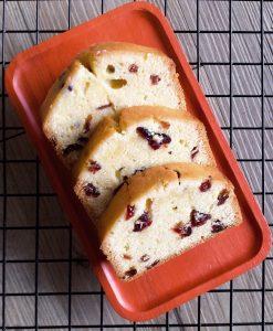 酒漬蔓越莓磅蛋糕